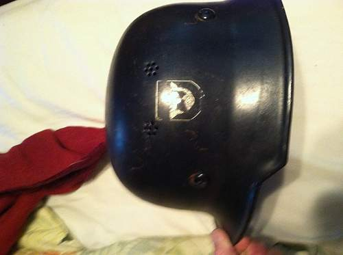 My m34 police helmet has arrived but have some questions