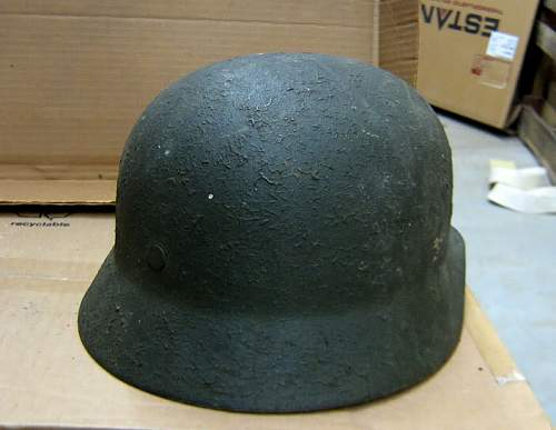 WWII German Colonel Army Helmet M1935 Stahlhelm whats its worth?