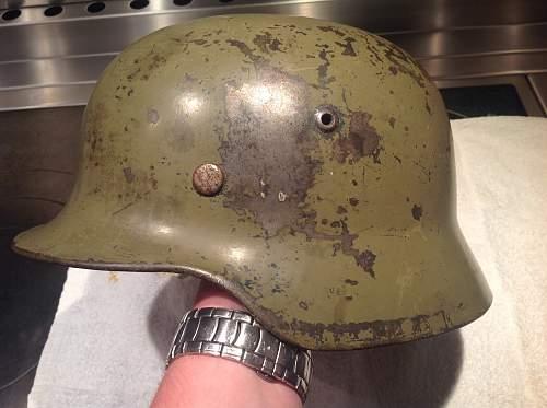 REAL DAK or (Mediterranean) campaign german helmet camo