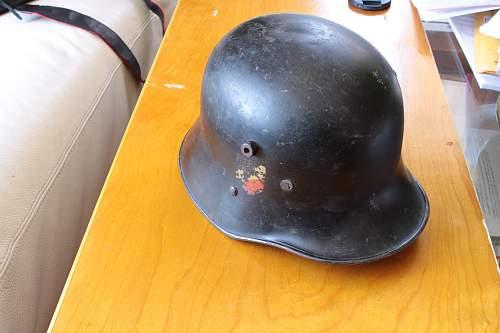 Transitional German Austrian Helmet DD Heer