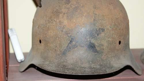 german helmet with star
