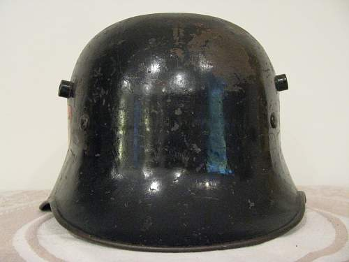 """Black Double Decal Fire Police Helmet - Commercial """"extreme"""" Droop Bill Shell"""