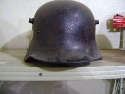 german ww1 helmet with ww2 markings?