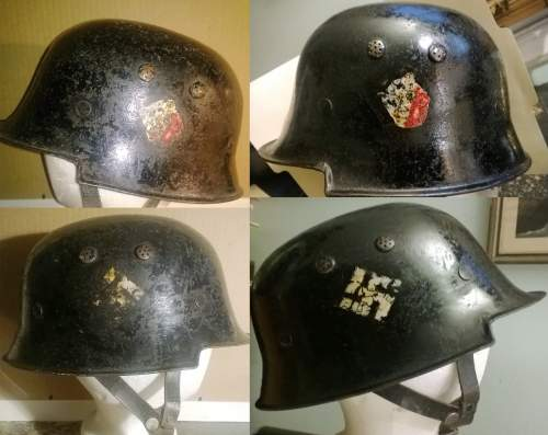 Early Double Decal Civil Police Helmet opinion needed