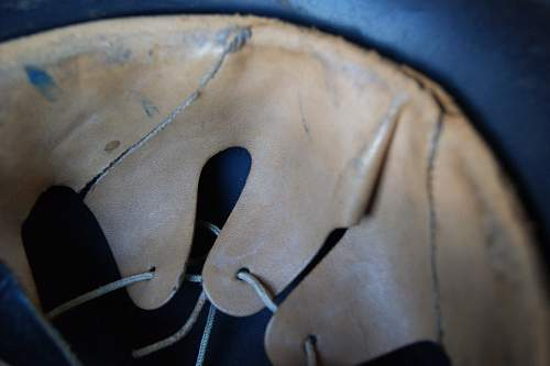Beaded M40 Luftschutz helmet