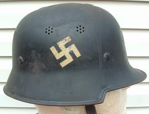 Early Double Decal Civil Police Helmet