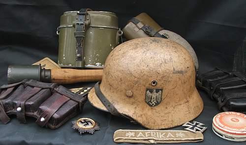 Click image for larger version.  Name:DAK helmet and militaria 003.jpg Views:47 Size:229.1 KB ID:790590