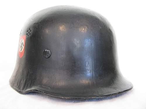 M34 Double Decal Fire Police Helmet - Austrian Police Decals