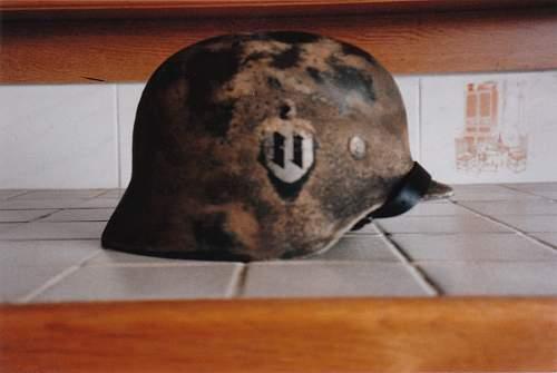 Croatian Einsatzstaffel der Deutsche Mannschaft M40 helmet