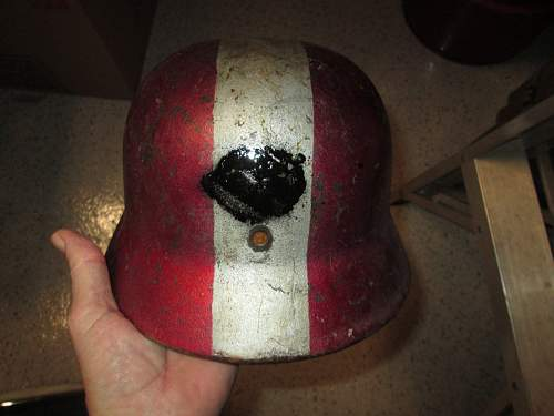 Helmet named to a officer and field post