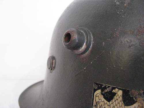 Very Early Double Decal Heer Transitional Helmet - Set Back Decals