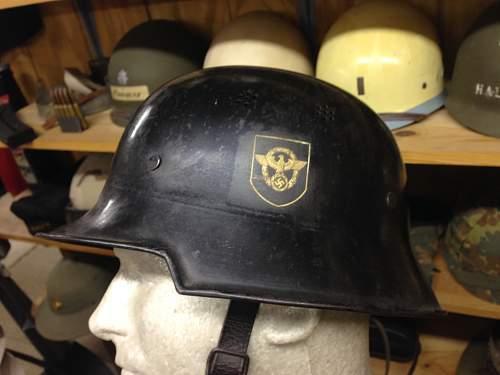WWII German POLICE helmet.   Opinions please.