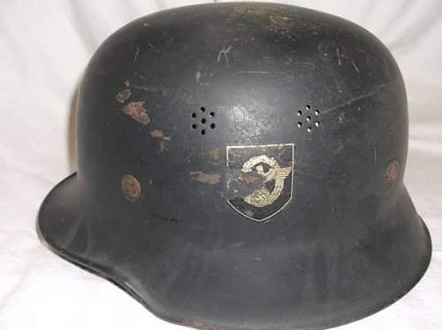 Police steel helmet