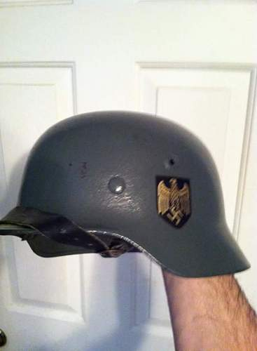 thoughts on my cheap german m40 helmet