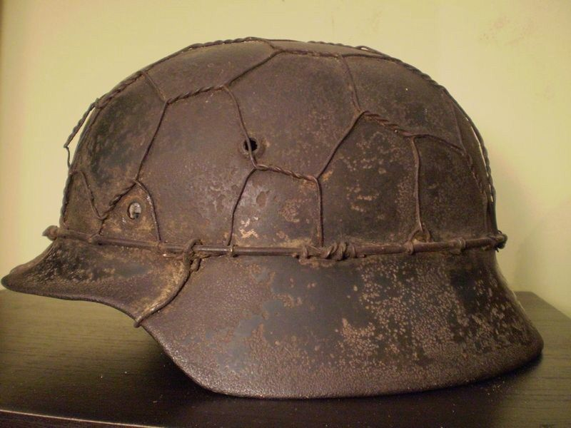 German Helmet M35 Wwii Camo Wire From Italy Original