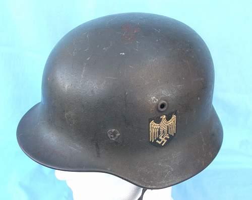 Heer Q64 single decal M40 helmet