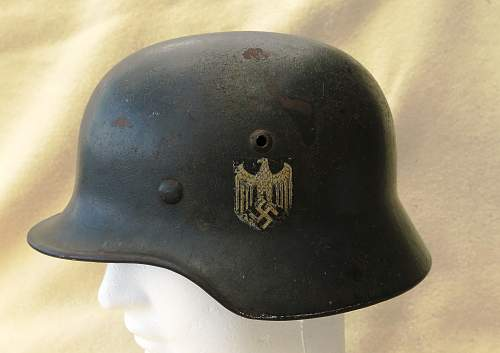 Heer M35 single decal EF 64 Heer helmet (re-issue)