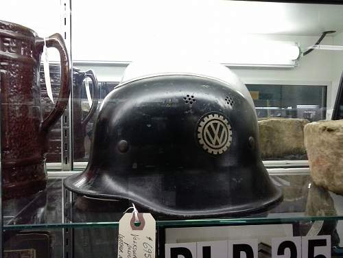 German helmets at the antique mall authentic?