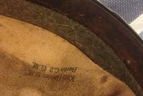 German helmet liner- real or reproduction?