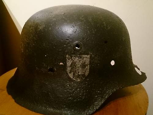 Polizei and SS he lmet decal/ helmet real or fake