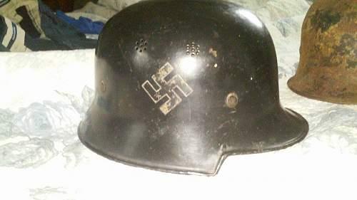 Salty m34 fire man helmet I pick up