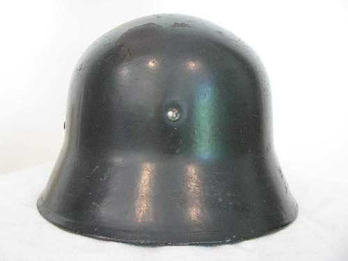 Combat Weight Screen Vented Himmler Style Double Decal Police Helmet