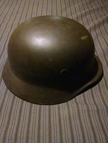 M40 helmet with possible blood stains?