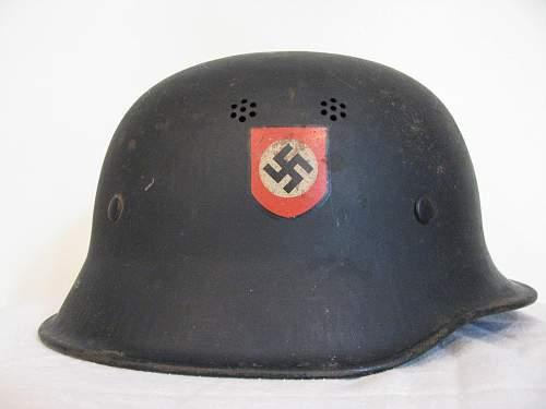Austrian M34 Double Decal Police Helmet