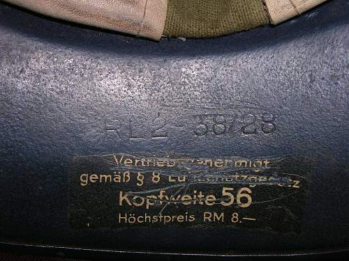 Luftschutz German WWII Helmet
