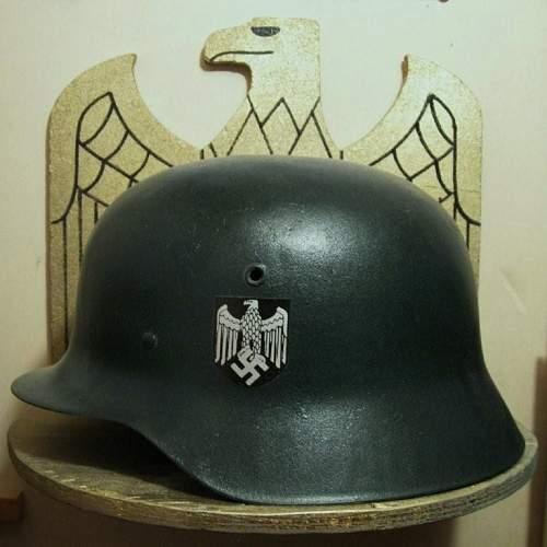 strange looking helmet
