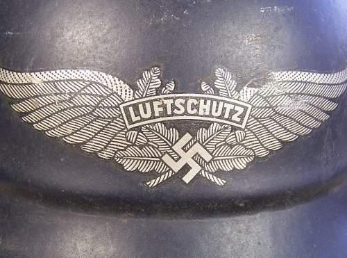 LUFTSCHUTZ (beaded) M40
