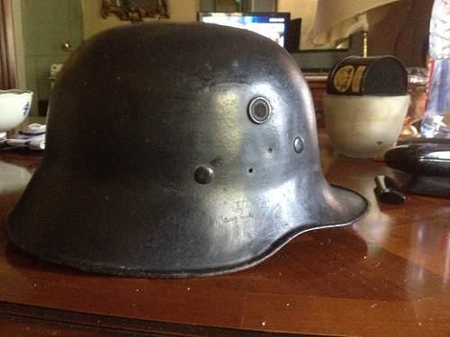My first  early fire man helmet .