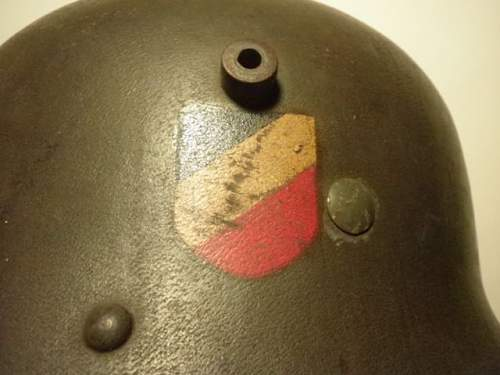 M16/17 Austrian Heer Double Decal Transitional Helmet Value