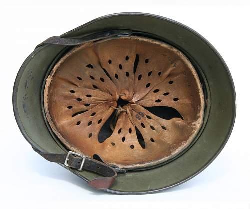 WWII M40 Q66 German Luftwaffe Olive Camo Helmet