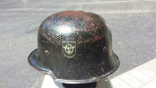 German Civil Police Helmet Comments needed is it OK ?