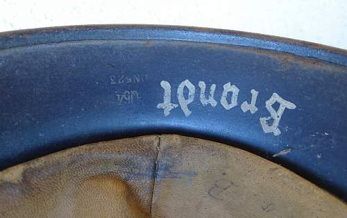 I'm new to helmets. Is this luftwaffe helmet a fake?
