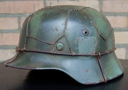 Heer camo helmet camo/wire??