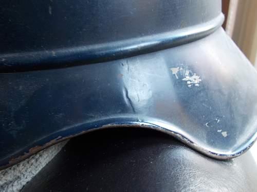 M44 luftschutz helmet with decal