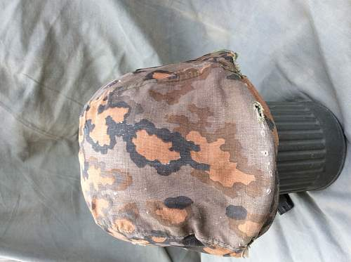What is this waffen ss helmet camo patterns cover replica?