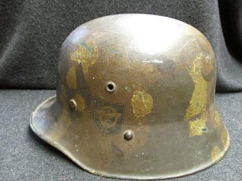 German Danzig Police reissued WWI Austrian M16 helmet.
