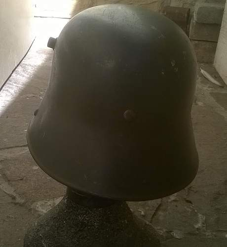 Last arrived (Heer transitional helmet)