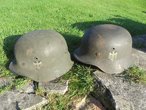 2 helmet picked up at auction in Jersey