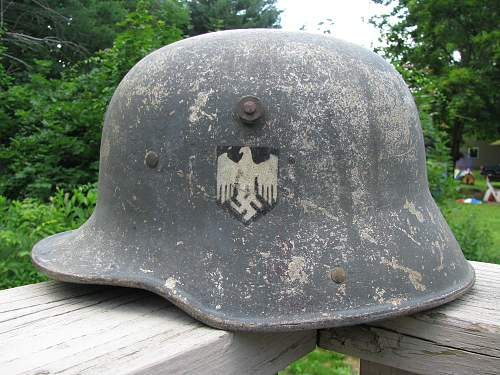 M16 doube decal transitional heer stahlhelm