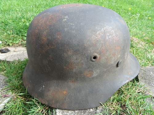The 2nd helmet from the auction in Jersey, Channel Islands.