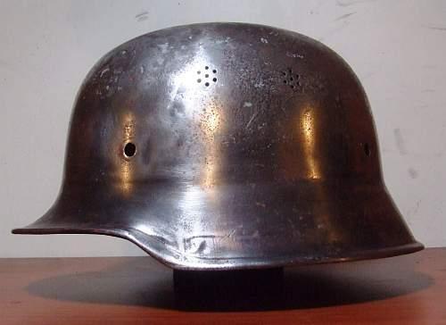 German Helmet ?? was found in Bolivia..