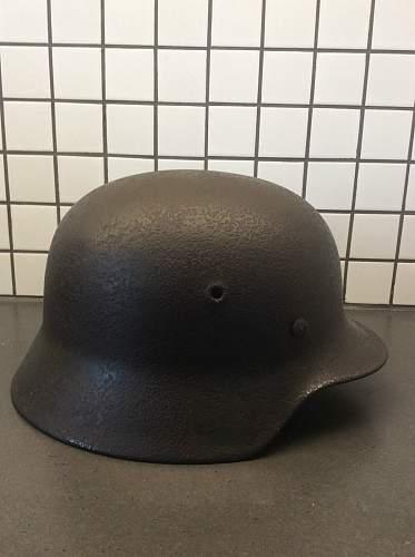Salty German lid; genuine Kriegsmarine?