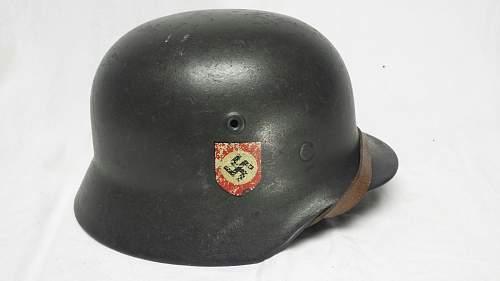 WW2 German Combat Police Helmet opinions wanted.