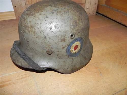 Unknown German helmet with markings?