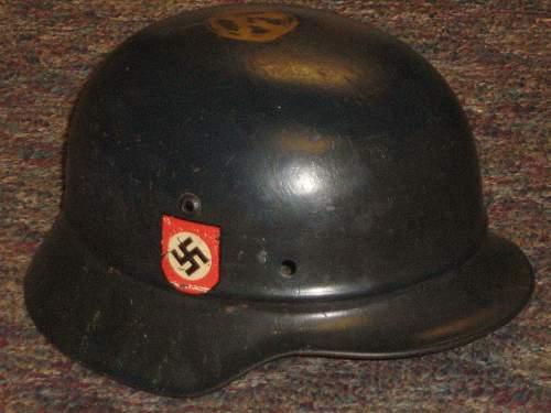 beaded combat police helmet
