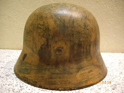 Camo helmet damaged eastern front